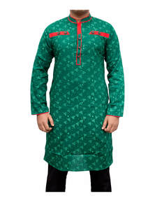 Green Cotton Panjabi