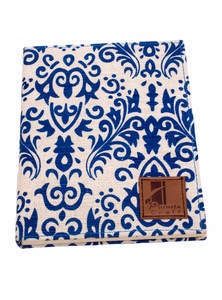 Blue White Jute Paper Diary