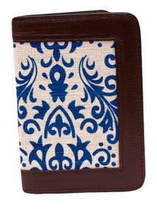 Jute Leather Passport Cover