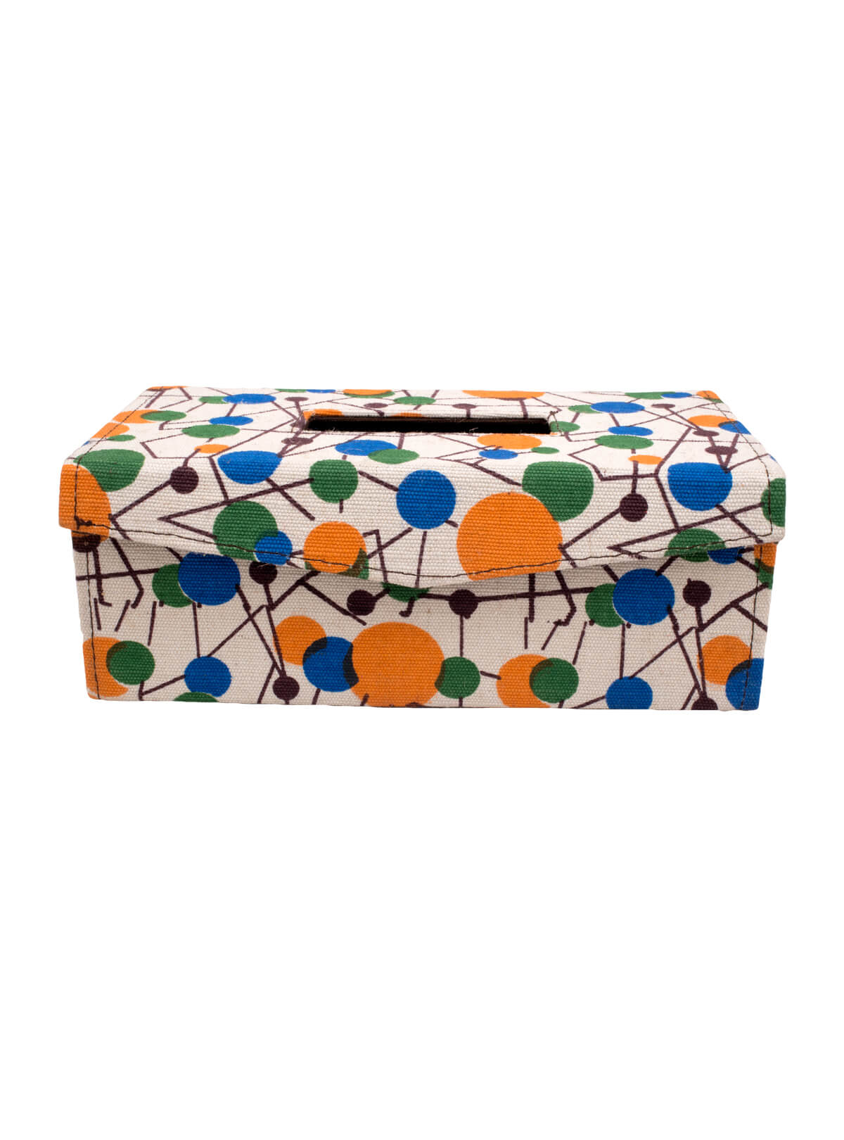 Multi-color Jute Leather Tissue Box
