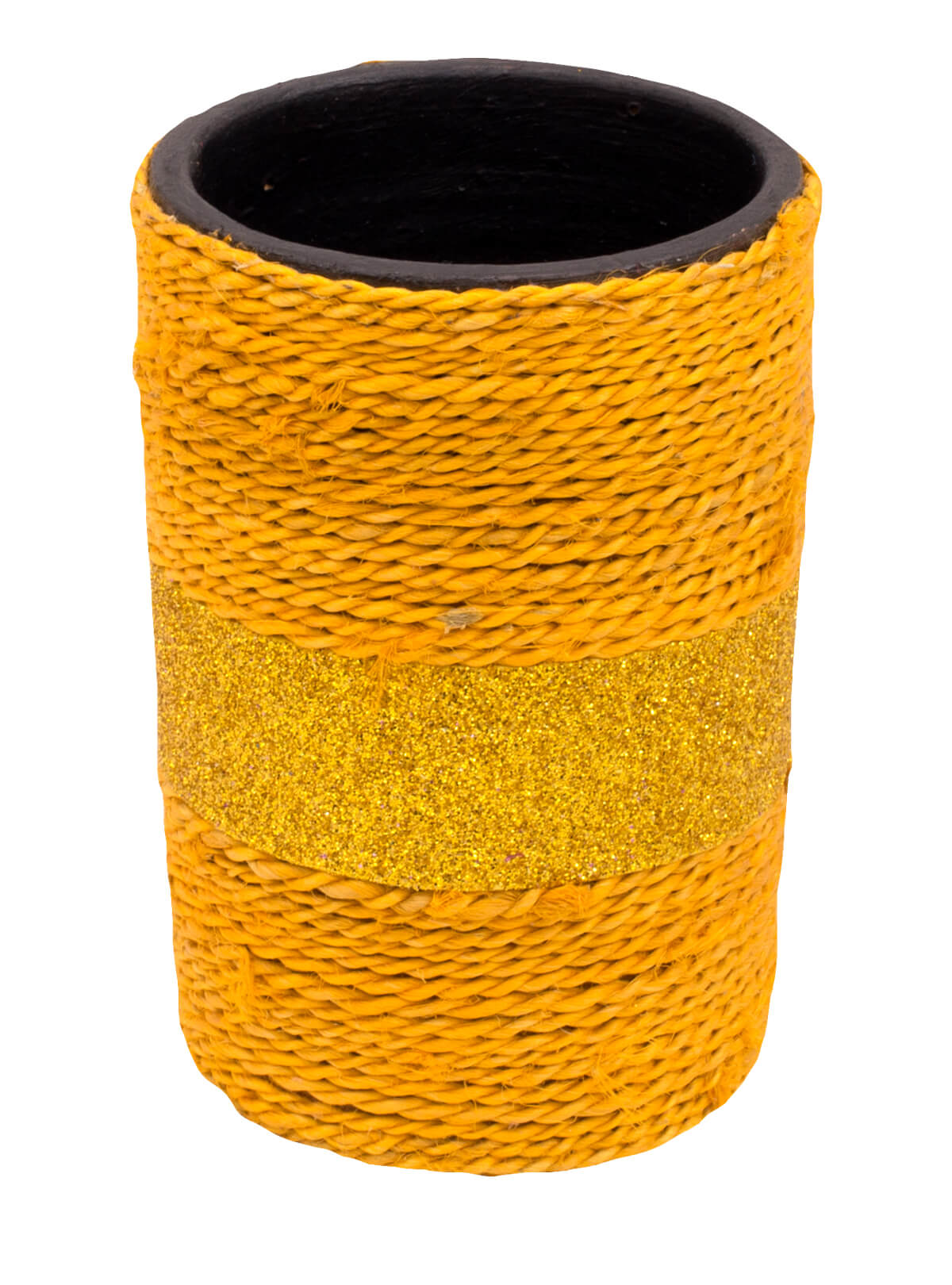 Yellow Clay Jute Pen Holder