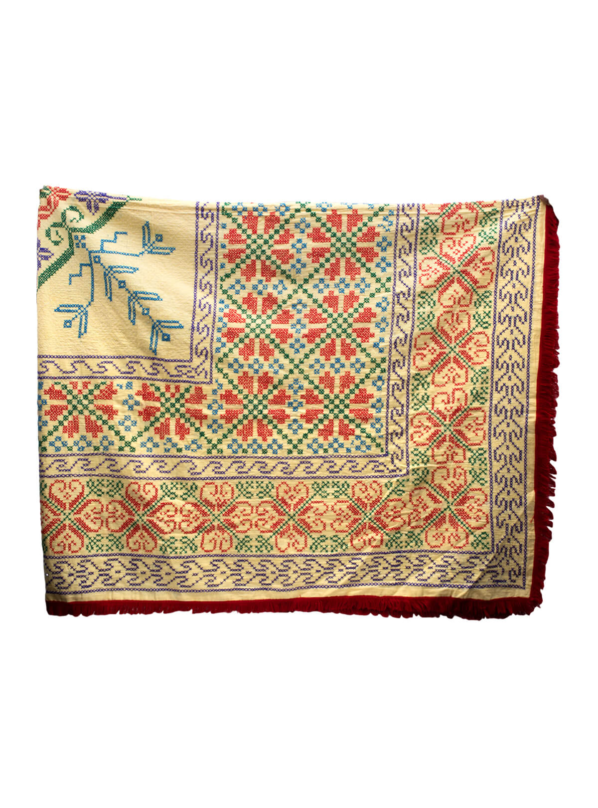 Multi-color Cotton Carpet Kantha
