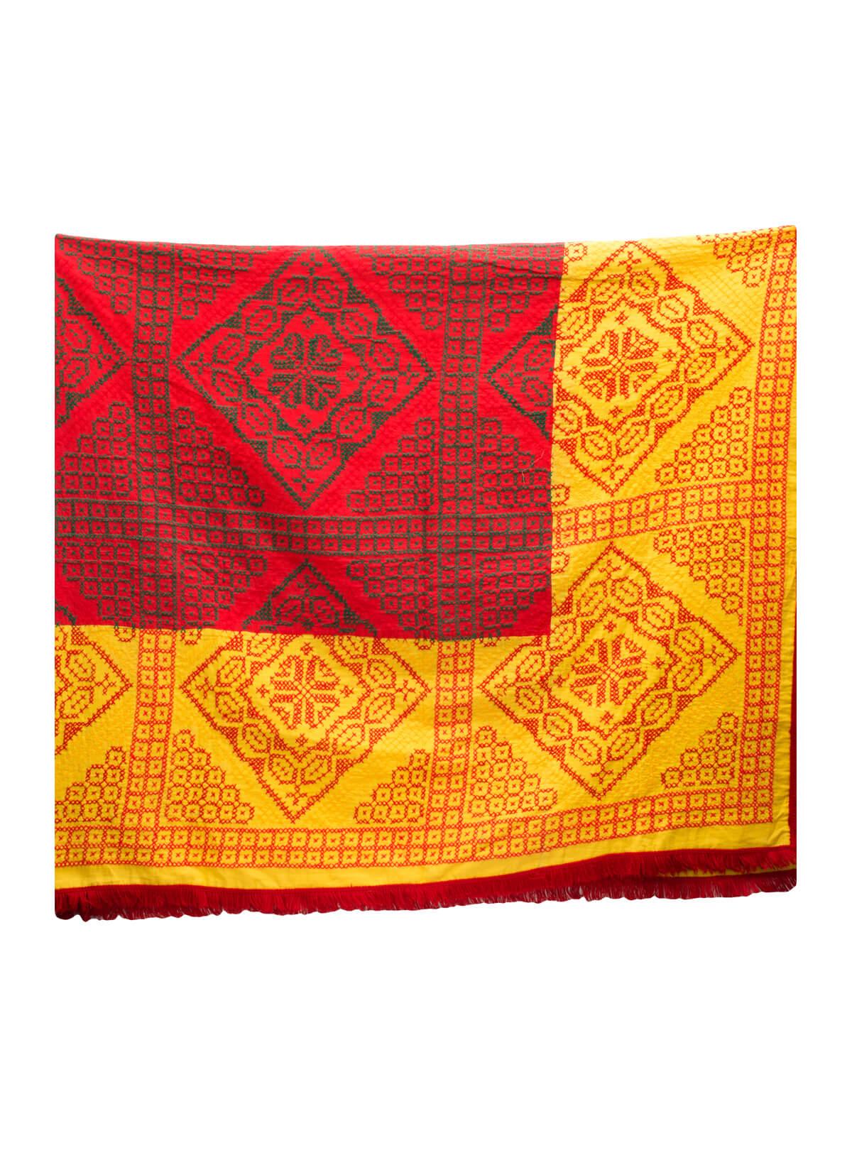 Multi-color Cotton Carpet Kantha