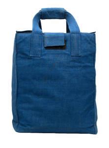 Midnight Blue Jute Hot Carrier Bag