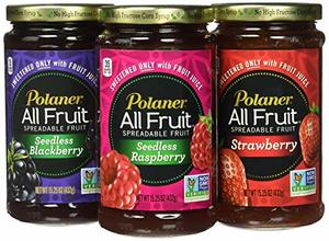 Polaner All Fruit with Fiber Jelly, 3 pk