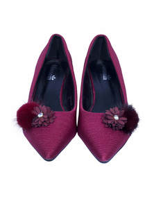 Maroon Pencil Heel Ladies Shoe