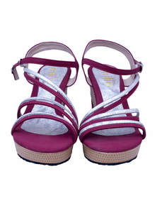 Maroon High Heel Ladies Sandal