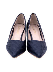 Black Pencil Heel Ladies Shoe