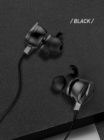 BASEUS GAMO H15 Type-C Wired Earphone PUBG Gamer Gaming Headset Hi-Fi Earbuds with Dual Microphone - Black