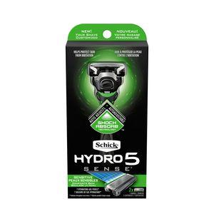 Schick 5 Blade Hydro5 Sense - 1 Handle + 2 Razor Blade Refills