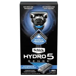 Schick 5 Blade Hydro5 Sense Hydrate - 1 Handle + 2 Razor Blade Refills