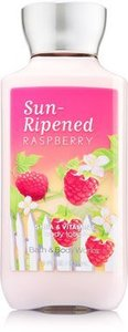 Bath & Body Works SUN-RIPENED RASPBERRY Gift Set - Body Lotion -Fragrance Mist & Shower Gel