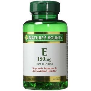 Nature's Bounty Vitamin E 180mg Pure DL-Alpha 120 Softgels