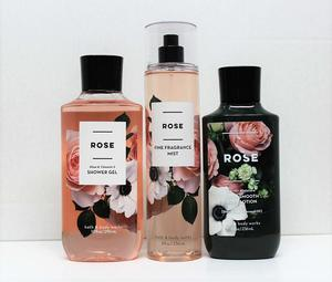 Bath and Body Works - Rose - Shower Gel, Body Lotion, Fine Fragrance Mist