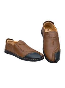 Dark Wood Brown & Bastille Blue Gents Shoe