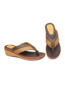 Saddle Brown & Fallow Brown Ladies Sandal