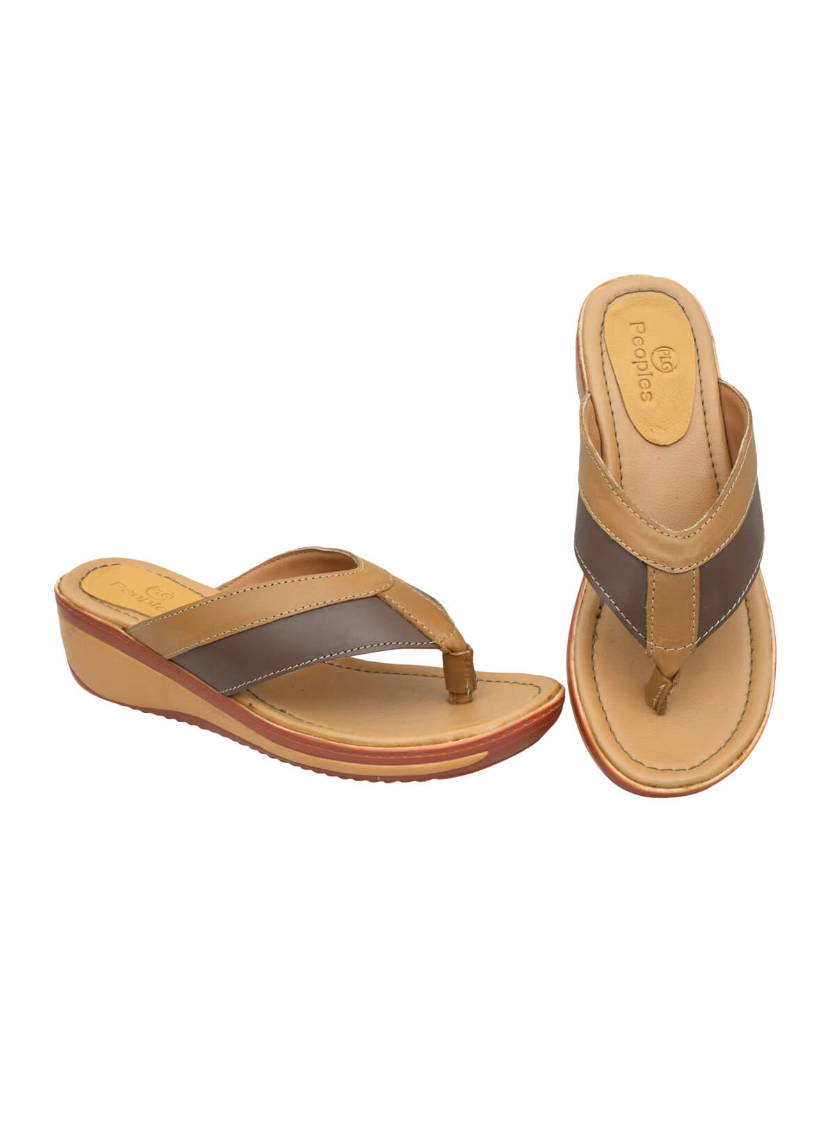 Fallow Brown & Saddle Brown Ladies Sandal