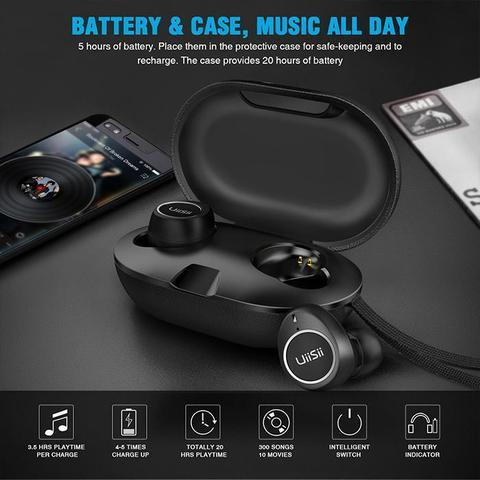 UiiSii TWS60 Bluetooth 5.0 Waterproof Touch Earphone