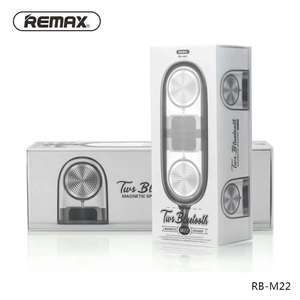 REMAX RB-M22 MAGNETIC BASE PORTABLE TRANSPARENT AUX STEREO DUAL BLUETOOTH SPEAKER