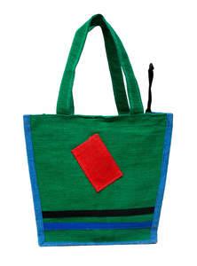 Green Jute Tiffin Bag