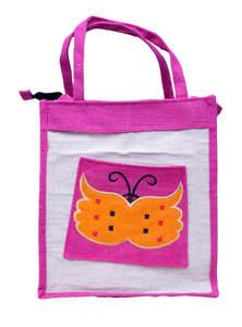 Pink Jute Bag