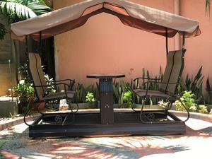 Moving Garden Chair Set