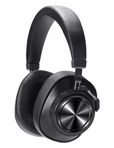 Bluedio T7 Turbine Bluetooth Headphones Custom Active Noise Canceling Over Ear, 57mm Driver Hi-Fi Stereo & 30Hrs Playtime, Wireless Headsets with Mic for PC/Cellphone/Travel/Work, Black