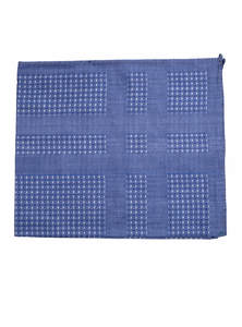 Perano Blue Cotton Handkerchief