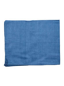 Steel Blue Cotton Handkerchief