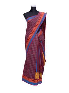 Paprika Red Handloom Cotton Saree