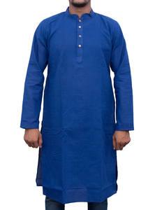 Endeavour Blue Handloom Cotton Panjabi