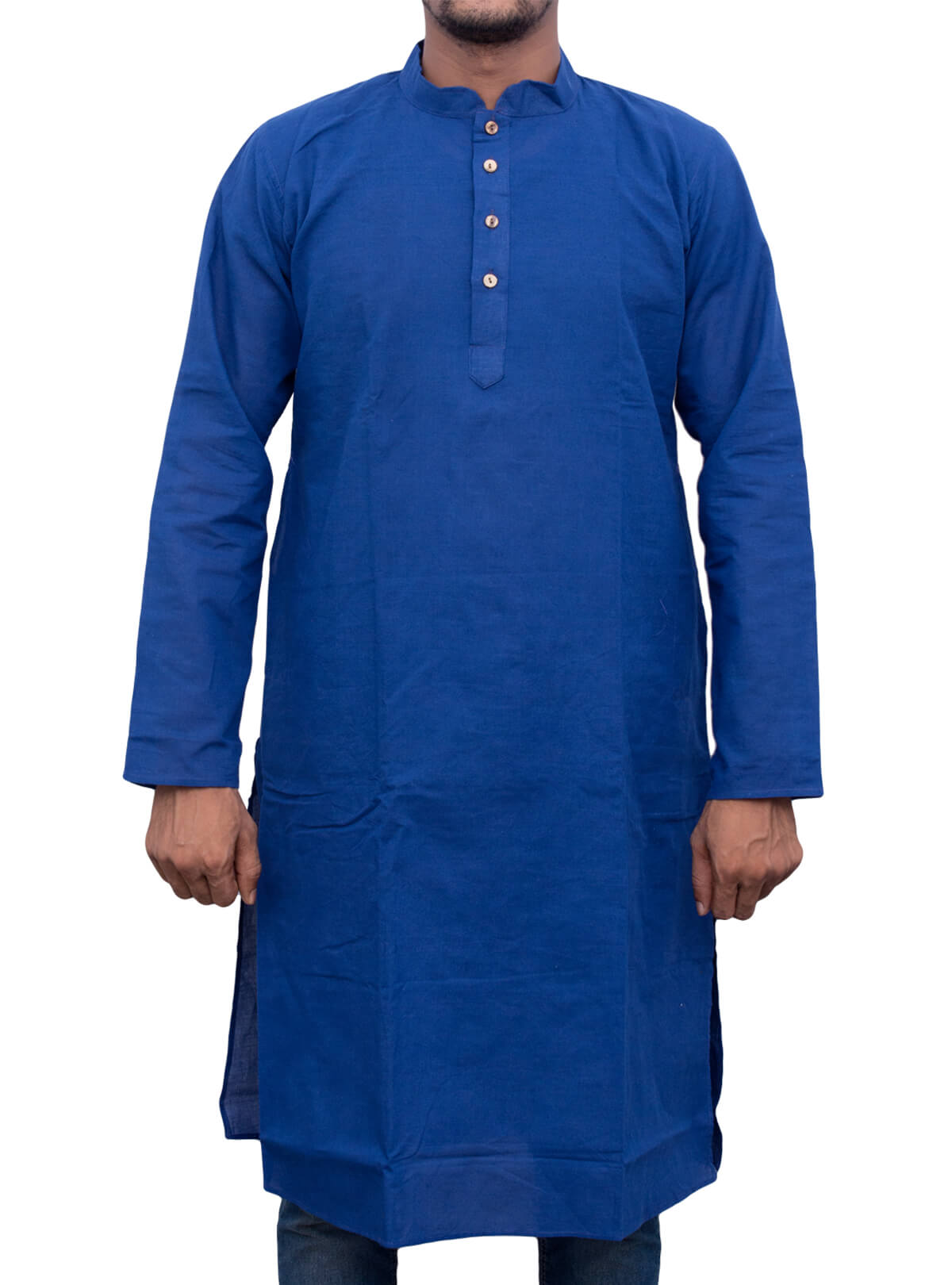 Endeavour Blue Handloom Cotton Panjabi
