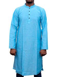 Sky Blue Handloom Cotton Panjabi