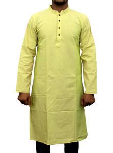 Sandwisp Yellow Handloom Cotton Panjabi