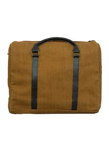 Jute Leather Travel Bag