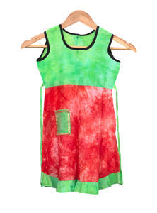 Red Green Cotton Baby Frock