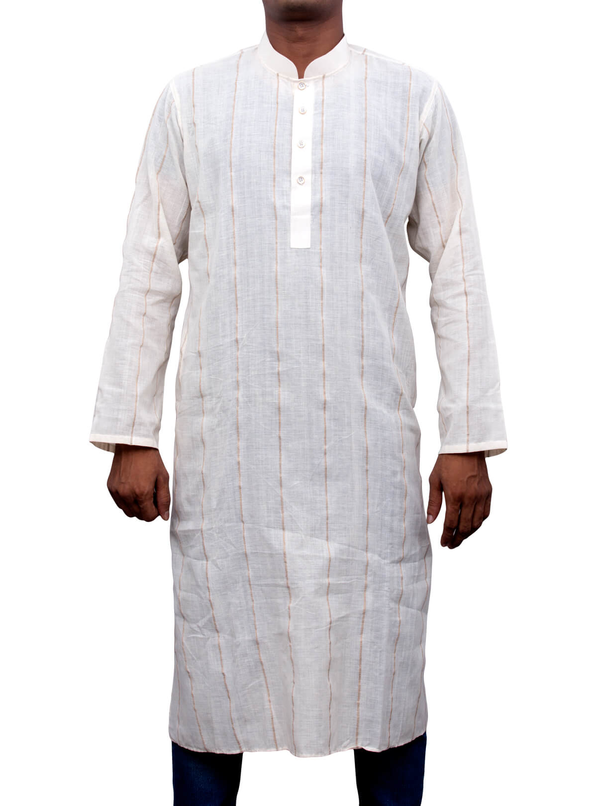 White Jute Panjabi