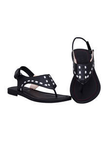 Black Leather Ladies Sandal