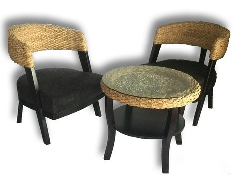 Rattan coffee Chair Set