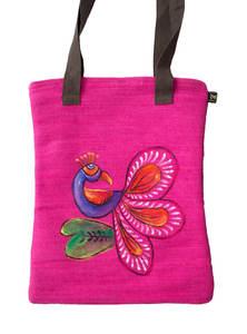 Pink Jute Baby Bag