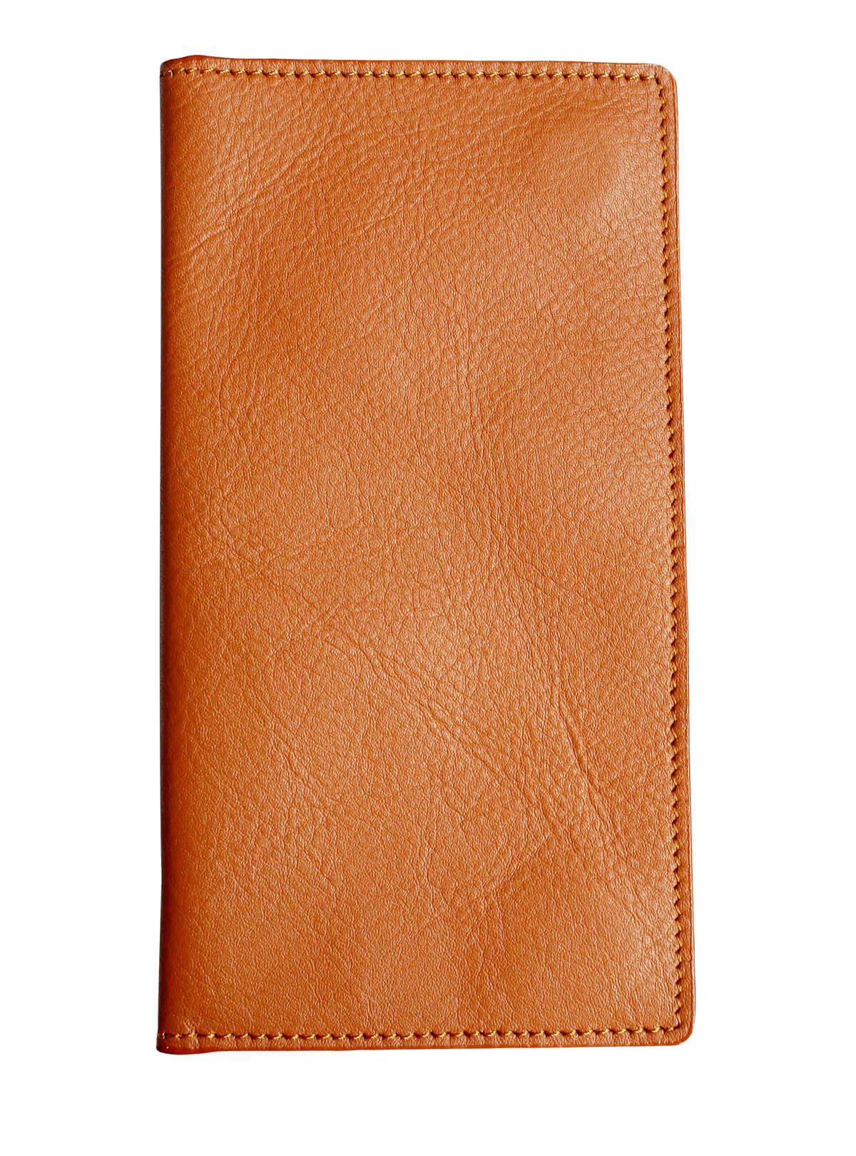 Tango Orange Leather Mobile Cover