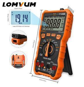 Digital Multi meter T28B Auto-Ranging 6000 Counts Display Multimeter Tester 2 Probes Voltage Current Capacity Measuring
