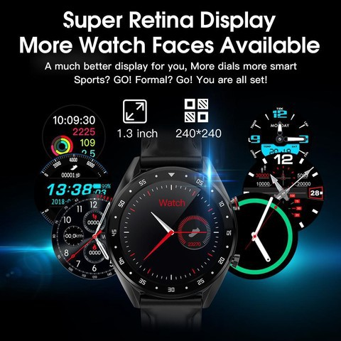 Microwear L7 Edge To Edge Screen ECG Heart Rate bluetooth Call IP68 Music Control Long Standby Smart Watch(Leather Strap)