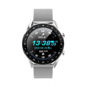 Microwear L7 Edge To Edge Screen ECG Heart Rate bluetooth Call IP68 Music Control Long Standby Smart Watch(Metal Strap)