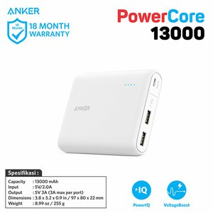 Anker Powercore 13000mah un white v3