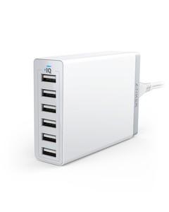 Anker Powerport 60w 6 port desktop charger (White) eu v3