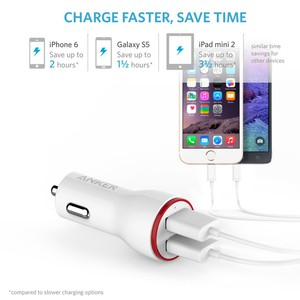 Anker Powerdrive 2 24w 2-Port car Charger (white)