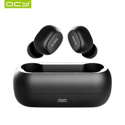 QCY T1 TWS Bluetooth Wireless Earphones with Dual Microphone Sports Headphones for IOS Android - Black China