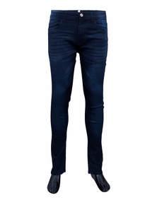 Black Whisker Cotton Men's Jeans Pant