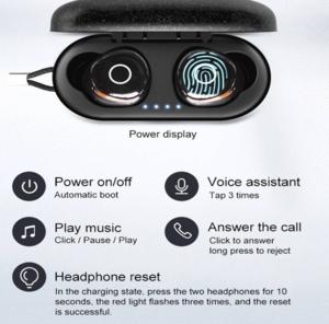 OVEVO Q65 TWS Bluetooth V5.0 IPX7 Waterproof Wireless In-ear Earbuds
